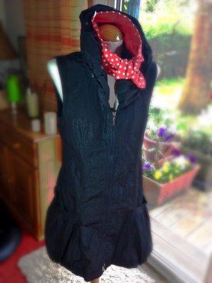 Kleid Weste schwarz glänzend schwarz