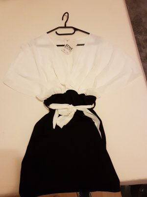 Wikkeljurk wit-zwart