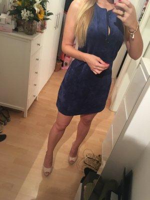 Kleid Wildleder blau BCBG Maxazria XXS