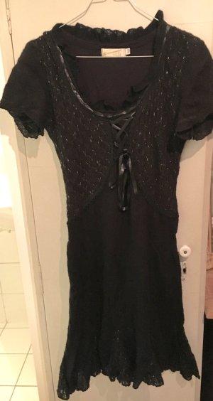 Kleid - Wolle - Rinascimento - schwarz - Korsage - 36 - feminin