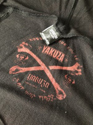 Yakuza Vestido con capucha negro-rojo oscuro