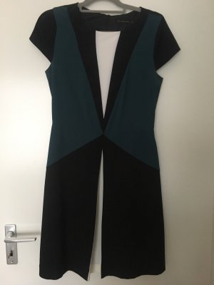 Zara Vestido de camuflaje negro-verde oscuro