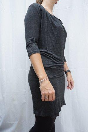 Zara Vestido de tela de sudadera gris