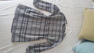 Zara Robe argenté-noir coton