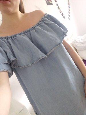 Kleid Zara mit Off shoulder Variante Blau