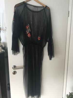 Zara kleid schwarz mit perlen
