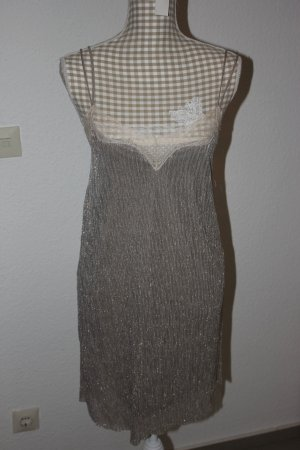 Zara Robe à bretelles multicolore tissu mixte