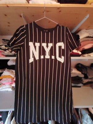 H&M Sweatjurk wit-zwart