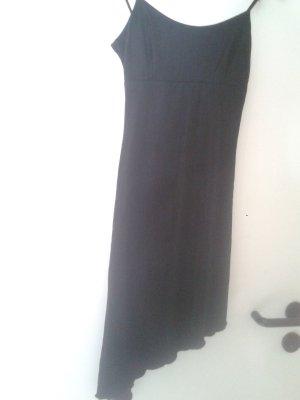 Kleidchen Kleid Strand Urlaub schwarz m besonderen Trägern u Riffelsaum asymetrisch aus USA