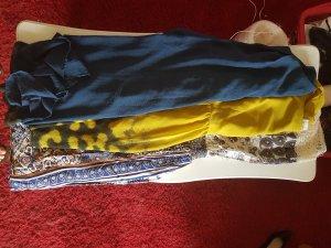 High Low Dress lime yellow-petrol