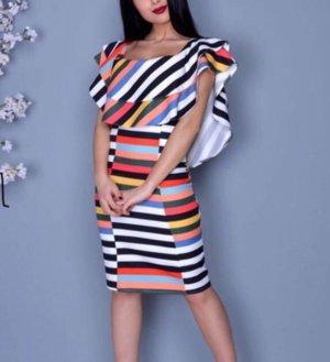 Butik Vestido a media pierna multicolor