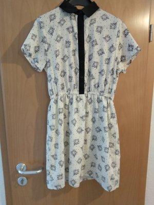 Compañia Fantastica Robe chemise blanc-noir