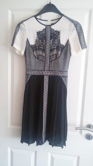 KAREN MILLEN Chiffon jurk wit-zwart
