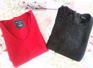 Kleider rot und grau
