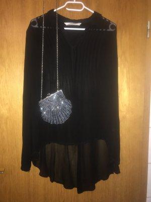 *Kleiderschrank Ausverkauf* Schwarze, semitransparente Oversize-Bluse von Zara, Größe M