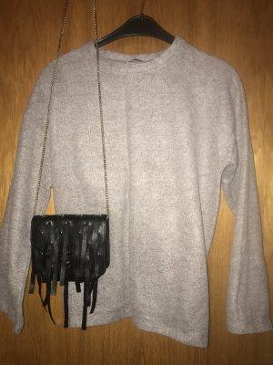 Zara Jersey holgados beige-marrón grisáceo