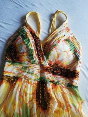 100% Fashion Off the shoulder jurk geel