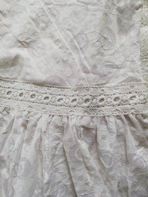 100% Fashion Robe en dentelle blanc