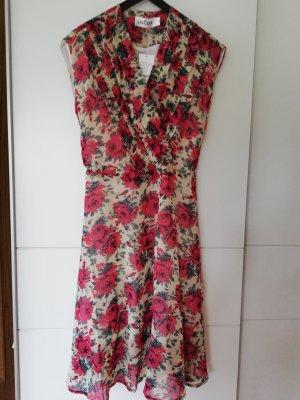 100% Fashion Robe chiffon rouge foncé