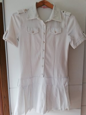 100% Fashion Polo Dress white