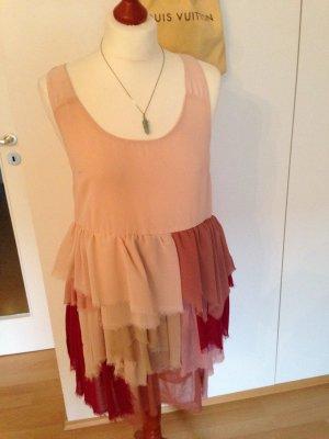 Klein Feenkleid H&M 38 Fransen rosa rot Abiball Hochzeit Party Sommer Hippie