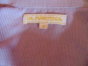 Klein kartierte Bluse von La Martina lila/weiß Größe S