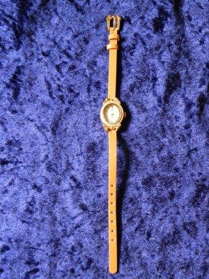 kleine Armbanduhr mit Lederarmband