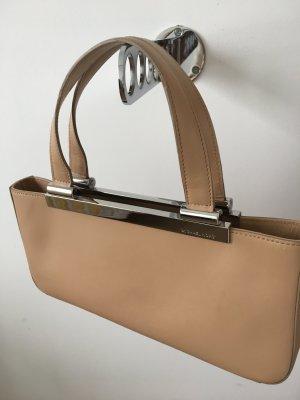 Kleine beige Handtasche von MK mit Silber