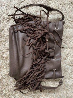 Forever 21 Fringed Bag brown