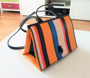 Zara Crossbody bag multicolored imitation leather
