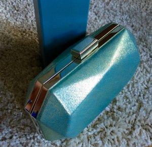 Kleine case-clutch in metallic mint