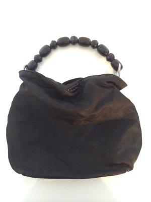 Kleine Christian Dior Handtasche mit Holzgriff