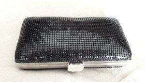 Pochette noir-argenté métal