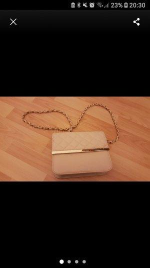 kleine Creme farbene Handtasche