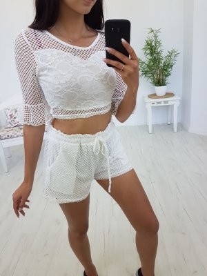 Woven Twin Set white