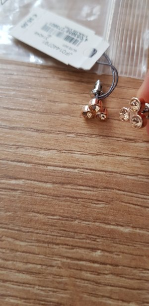 Fossil Pearl Earring gold orange
