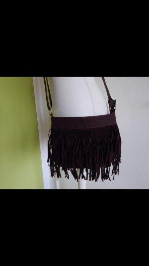 C&A Tas met franjes zwart bruin-donkerbruin