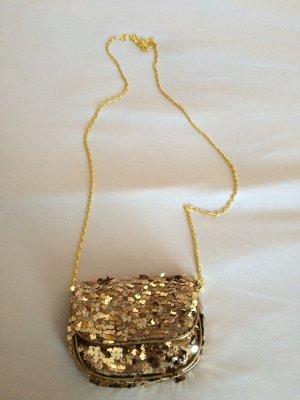 Kleine goldene Umhängetasche / Clutch