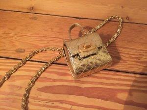 Kleine goldene Vintage Handtasche