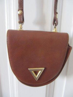 Kleine Handtasche auch als Gürteltasche Tasche Cognac Braun