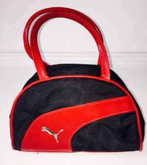 Kleine Handtasche/ Bowling-Bag Puma schwarz-rot