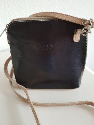 """Kleine Handtasche """"Florence - Made in Italy"""" schwarz-beige"""