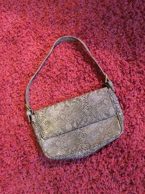 Kleine Handtasche lila/schwarz Snakeprint