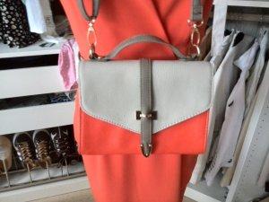 Kleine Handtasche taupe / orange