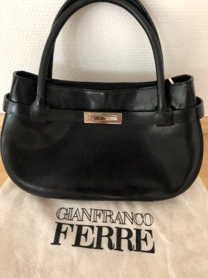 Kleine Handtasche von Gianfranco Ferrer, Leder, schwarz