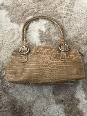 Kleine Handtasche von Joop aus Leder mit Krokoprägung und Reißverschluß