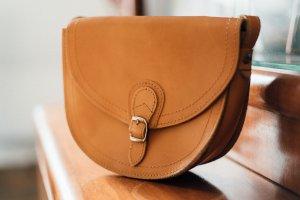 kleine Hippie Lederhandtasche