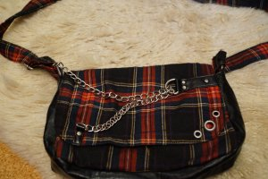 Handbag black-carmine