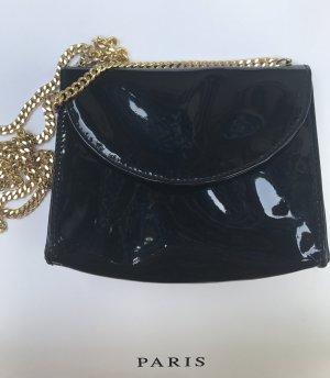 Kleine Lacktasche mit Goldkettchen Designer  Estro di Firenze im Chanel Stil