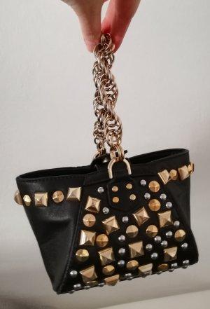 Kleine Lederhandtasche / Abendtäschchen mit Nieten